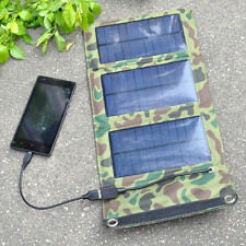 5V 5W 1000mAh Foldable Solar Panel Charger Pack USB Power Bank for Mobile Phone