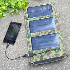 5V 5W 1000mAh Faltbar Solar Panel Ladegerät Pack USB Power Bank für Cell Phone