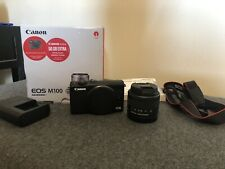"Canon EOS M100 Mirrorless Digital Camera with EF-M 15-45 mm + Case ""Excellent"""