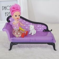 Kids Baby Girl Princess Dreamhouse Sofa Chair Furniture Toys For Doll Barbie L3