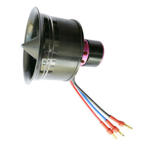 For EDF 50mm Duct Fan 4900KV 11 Propeller 3S Brushless Motor RC Parts Accs