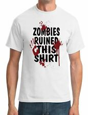 Zombies Ruined This Shirt - Funny - Mens T-Shirt