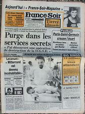 France Soir n°12792 (28 sept 1985) Nlle Calédonie - Mexico- Tabarly - Godard