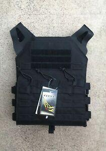 MODI (FLYYE) JPC Swift Tactical Plate Carrier - Black - Fabric Webbing