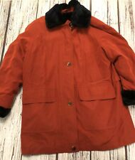 Size Large 16 18 Ensign  Collection Red Winter Coat Fur Lined