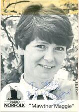 Mawther Maggie aka Maggie Secker signed photo autograph Radio Norfolk poet