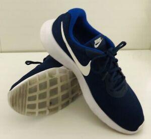 Nike Tanjun Mens 812654-414 Royal Blue White Mesh Running Shoes Size 12 NEW