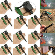 10x Survival Magnesium Flint Stone Fire Starter Emergency Lighter Kit Outdoor