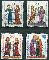 Berlin 354 - 357 gestempelt Tages Vollstempel Berlin 12 mit Gummi 1970