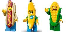 LEGO Minifigures - Ser13 Hot Dog Man + Ser16 Banana Guy + Ser17 Corn Cob Guy NEW