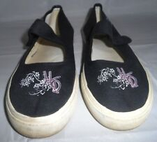 Harley-Davidson Black Canvas Mary Janes Women's 7.5 Adjustable Closure