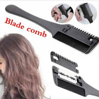 Portable Hairdressing Trimmers Bangs Repair Comb Hair Thinner Comb With   Blade