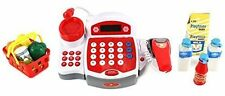 Red Cash Register Pretend Play Battery Operated Toy Register w/ Microphone....