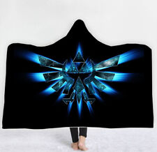 The Legend of Zelda Printed Hooded Blanket Fleece Throw Cloak Wearable Blankets