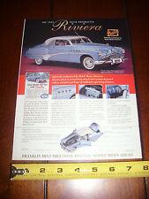 1949 BUICK ROADMASTER RIVIERA FRANKLIN MINT - ORIGINAL 1995 AD