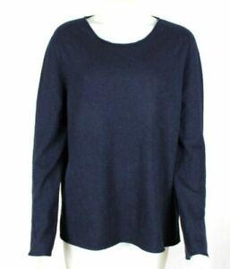 Neiman Marcus Navy Blue 100% Cashmere Sweater Womens Plus Sz 3X - NWT
