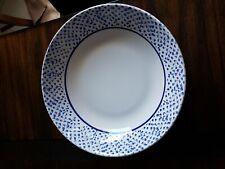 Roma Inc.  Blue/White sponge pattern large salad/pasta/chip serving bowl