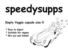 Empty Veggie Capsules #0 qty 30 vitamin vegan vegetarian capsule size 0 pill