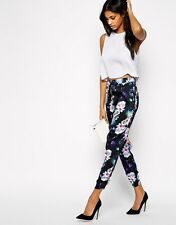 Lipsy Tropical Floral Satin Jogger Trouser Lounge Wear Pant The Doll House 10