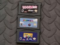 Lot Nintendo GameBoy Advance GBA Game Cartridge Only - ZooCube Snood 2 +