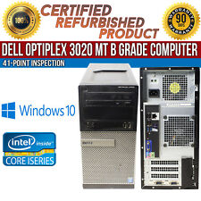 Dell OptiPlex 3020 Mt Intel i5 8Gb Ram 500Gb Hdd Win 10 Usb Vga B Grade Desktop