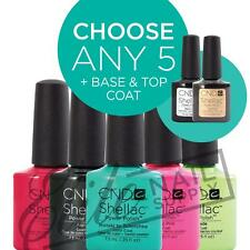 CND SHELLAC UV Color Coat 7.3ml - Any 5 Colours + Base + Top