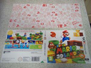 Super Mario 3D Land Nintendo 3DS Replacement Box Art Sleeve/Inlay.