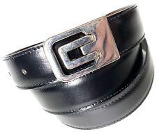 "MISURI FIRENZE Men's Black Brown H.L.B. Reversible Italian Leather Belt 45"""