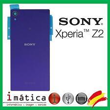 TAPA TRASERA CRISTAL LILA PURPURA SONY XPERIA Z2 D6502 D6503 L50W D6513 BATERIA