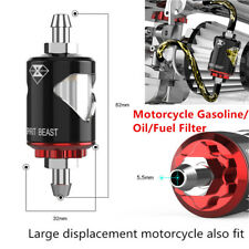 1Set T6063 Aluminum Motorcycle Gasoline / Oil / Fuel Filter Prevent Impurities