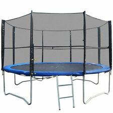 14FT REPLACEMENT 8 POLE TRAMPOLINE SAFETY NET ENCLOSURE SURROUND OUTDOOR