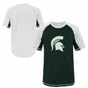 Outerstuff NCAA Youth Michigan State Spartans Color Block Rash Guard Shirt
