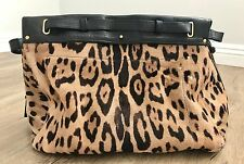 Pre-Loved JEROME DREYFUSS Carlos Leopard Satchel Leather Tote $2450 SOLD OUT
