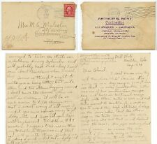 1909 Boulder Colorado Mill Flats concrete pipe contractor cover and letter