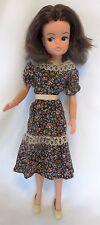 Vintage Pedigree SINDY Brunette Fashion Doll: Active Body, Original Outfit