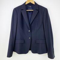 Hugo Boss Womens Size US 12 Janna3 Black Wool Blazer Jacket