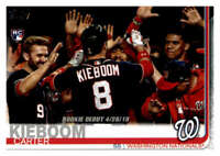 2019 Topps Update #US208 Carter Kieboom Washington Nationals Rookie Debut