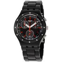 Swatch Irony Black Coat Black Dial Aluminium Men's Watch YCB4019AG
