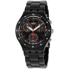 Swatch Irony Black Coat Black Dial Aluminium Men's Watch YCB4019AG