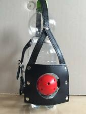 In finta pelle cinghie BOCCA APERTA Red Ball Gag Testa Cappuccio Adulto Dungeon ritenuta
