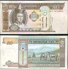 MONGOLIA 50 TUGRIK 2000 P 64 UNC LOT 10 PCS