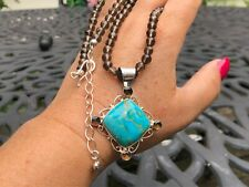 Jay King Sterling Silver Smoky Quartz & Turquoise Pendant & Necklace