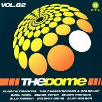 THE DOME,VOL.82,The Chainsmokers&Coldplay, Alan Walker, Gavin James, 2 CD NEU
