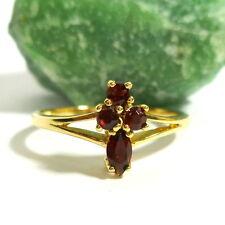 Toller Ring in 333/8 K Gold mit Granat Goldring Granatring 55 (17,5 mm Ø)