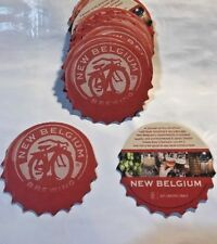 NEW* NEW BELGIUM BREWING COASTERS, 15 PACK, BIKE LOGO, SPROCKET SHAPE DESIGN