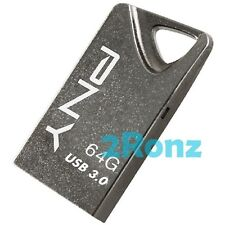 PNY T3 Attache 64GB 64G USB 3.0 Flash Drive Stick Thumb Disk Metal Titanium Gray