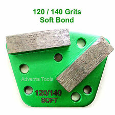 Trapezoid HTC Style Grinding Shoe / Disc / Plate - Soft Bond - 120/140 Grit