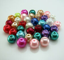 Free TOP 100pcs Mixed Glass Charm Round Loose beads spacer Crafts Design 6mm