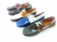 New Men's formal Smart Casual Lace Up Boat Shoes  Size  6 7 8 9 10 11 (aLi)
