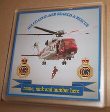 HM Coast Guard Search and Rescue coasters (pack of 4) free postage.